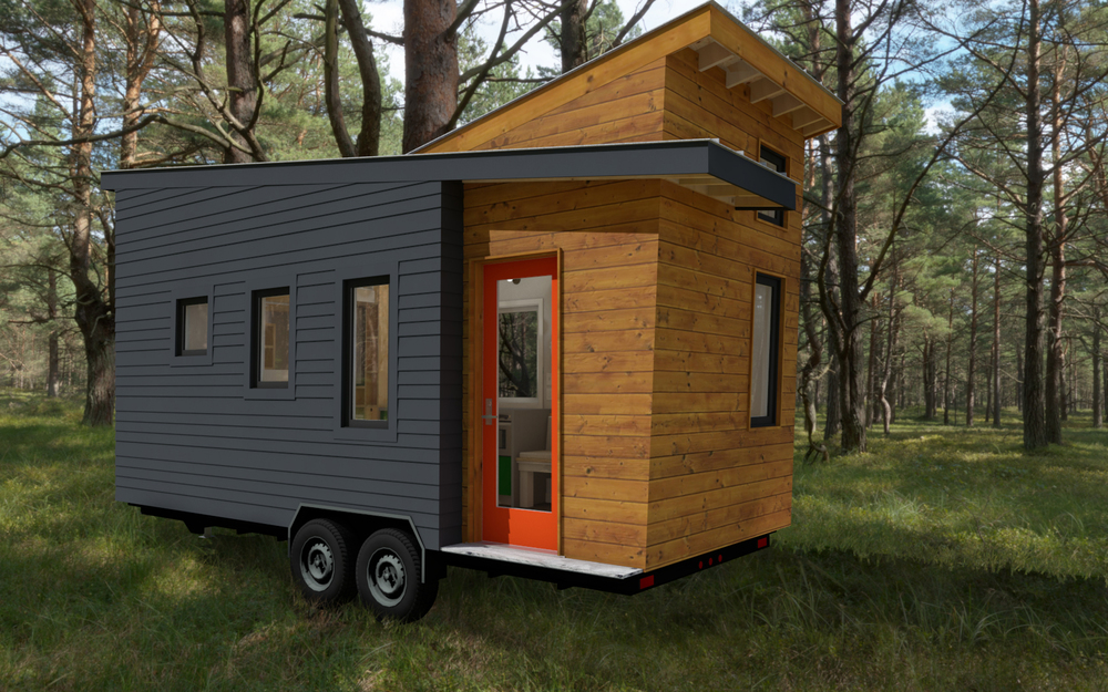 stem n leaf tiny house france. Black Bedroom Furniture Sets. Home Design Ideas