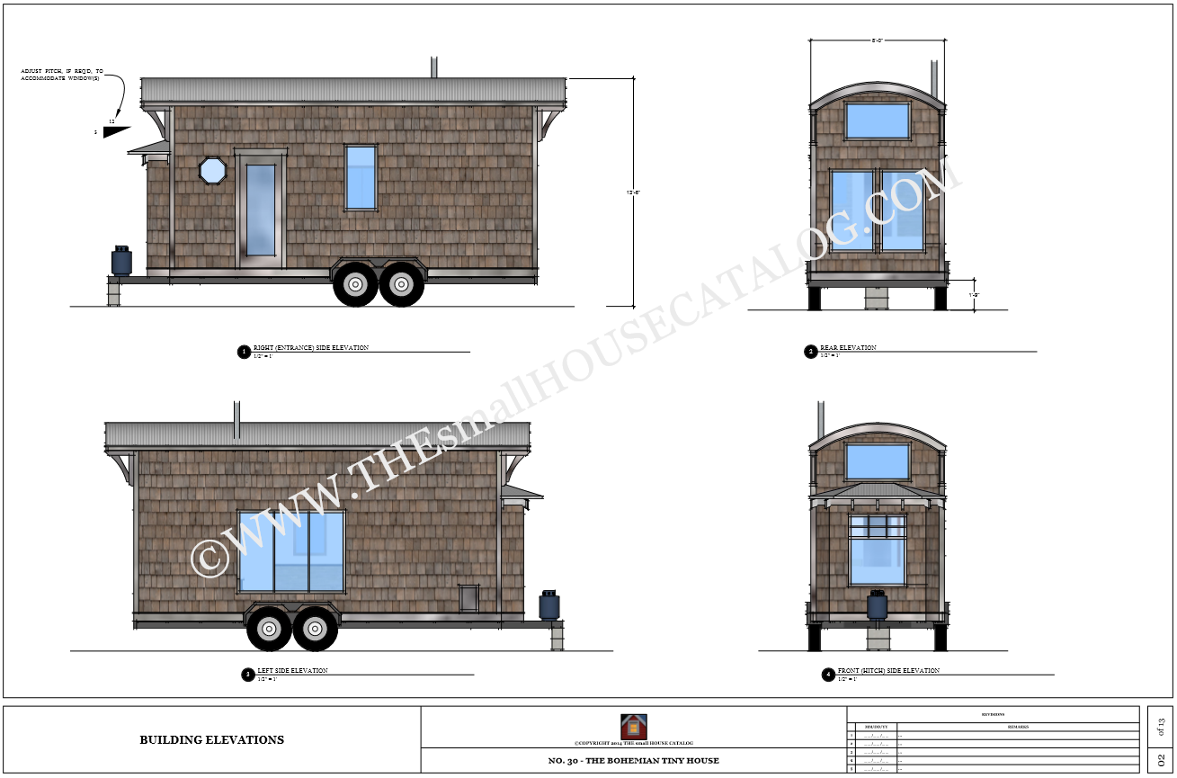 Plan tiny house bohemian tiny house france for Small house design for bangladesh