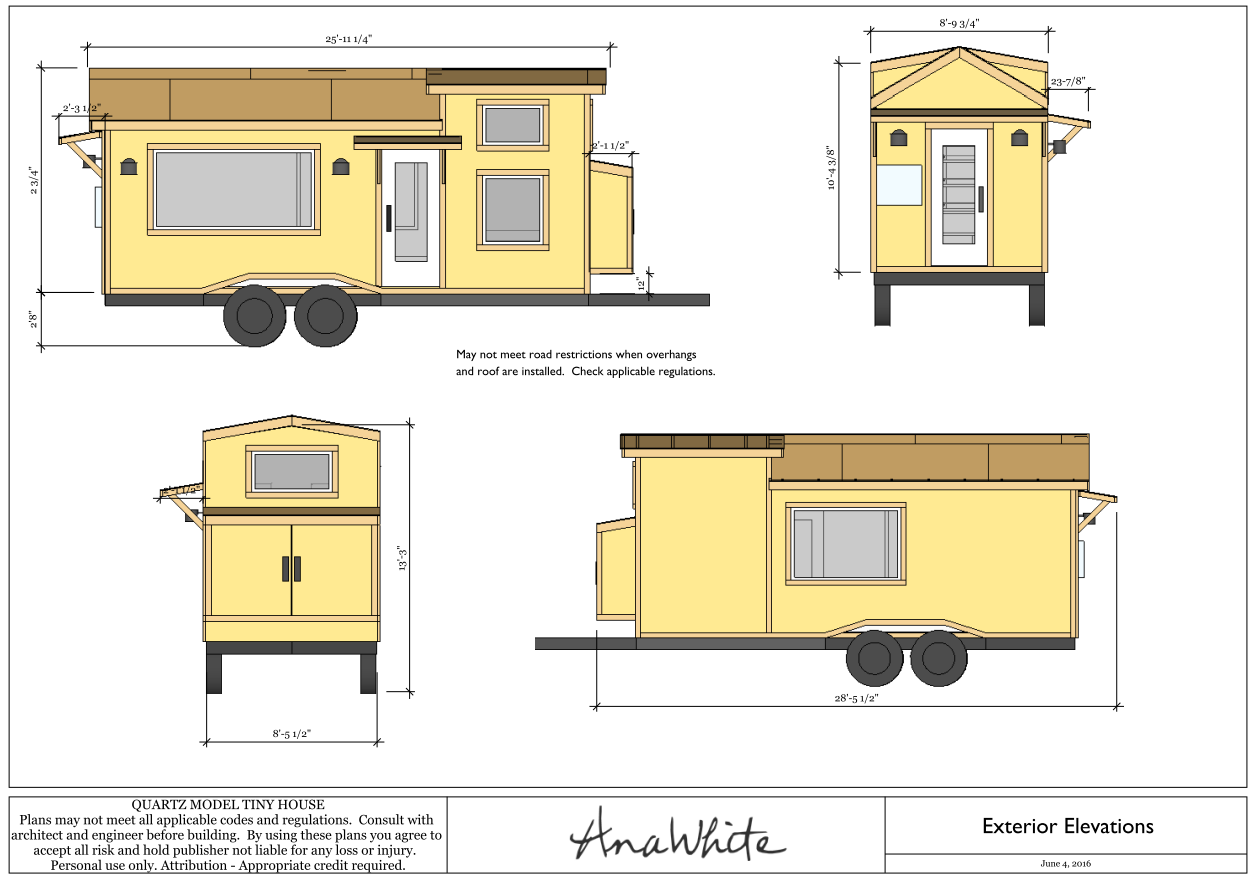 Plan tiny house quartz tiny house france for Tiny house pictures and plans