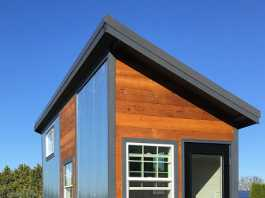 Rustic modern tiny house