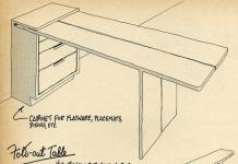 Table-console avec rangement