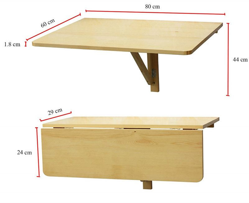 Trendy fwtw table murale rabattable via tiny house france for Tablette de cuisine rabattable