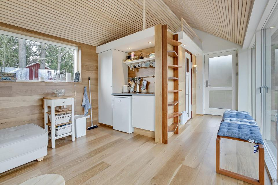 Une Tiny House d'inspiration Scandinave cuisine