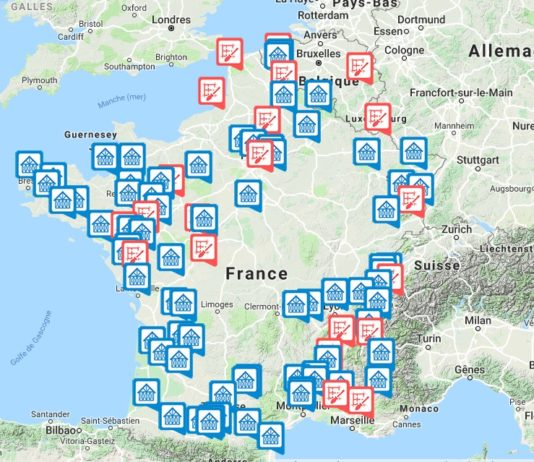 Carte tiny house en France