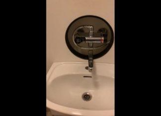 douche derriere lavabo