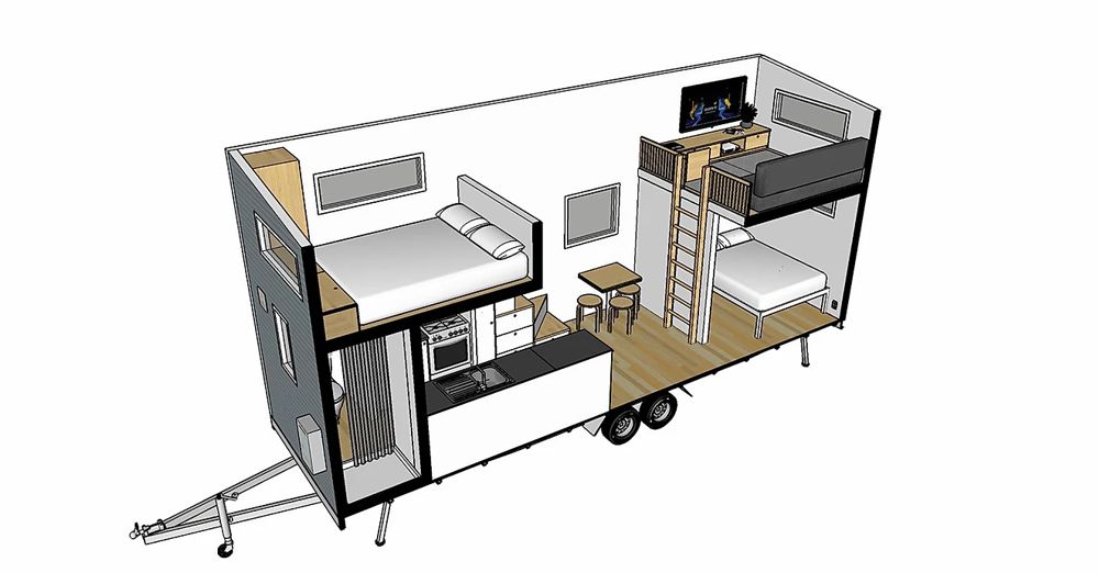Archer tiny house plan 3d