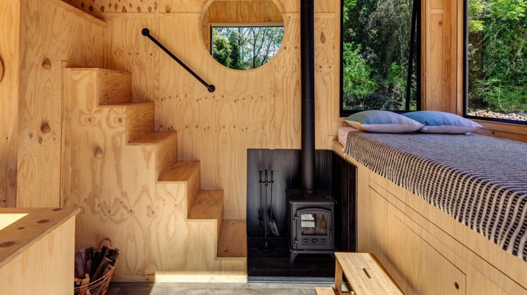 CANV tiny house poele à bois
