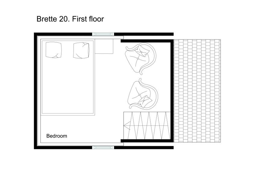 La Brette Haus plan etage mini maison pliable