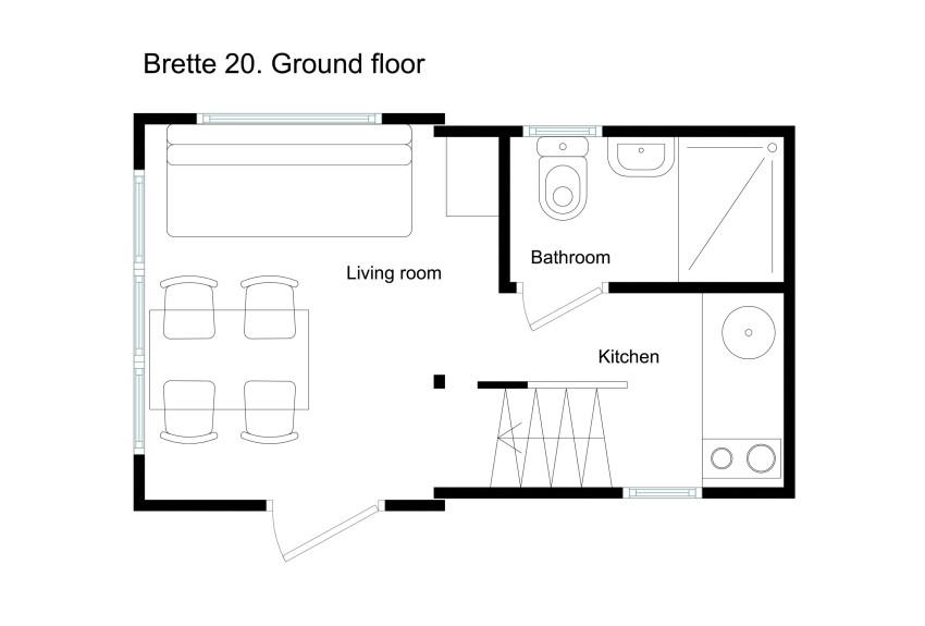 Brette Haus plan mini maison pliable