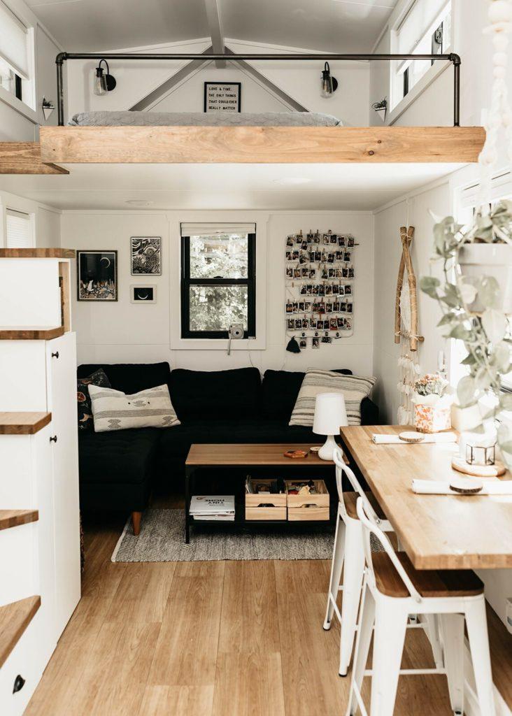 salon mini maison sur roues location