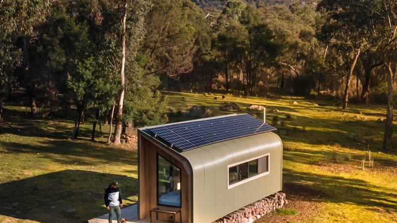 the forest panneau solaire mini maison