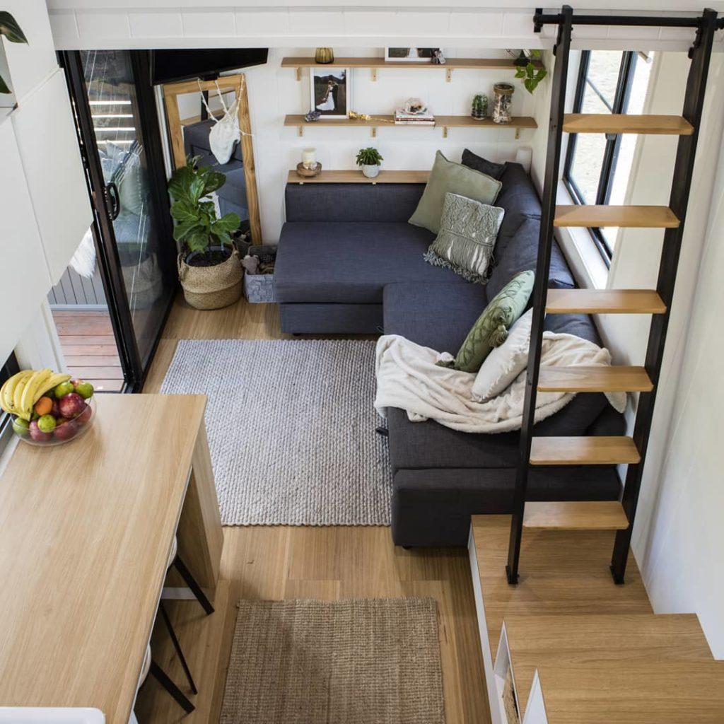 tiny house familiale salon