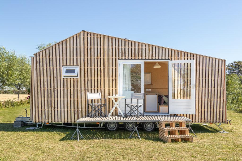 Bardage bois tiny house écologique et autonome