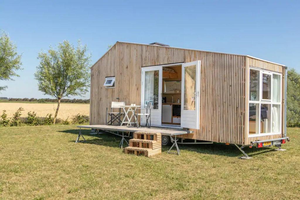 Façade tiny house écologique et autonome